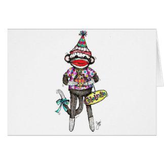 CELEBRATE! Sock Monkey Greeting Cards