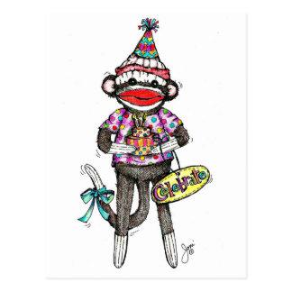 CELEBRATE! Sock Monkey Postcards