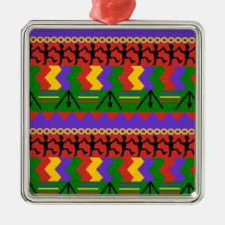 Celebrate Square Metal Ornament