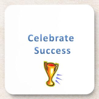 celebrate success drink coaster