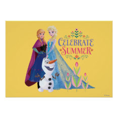 Celebrate Summer Poster at Zazzle