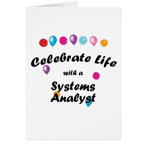 Celebrate Systems Analyst Stationery Note Card