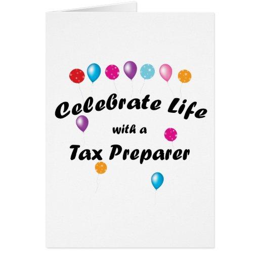 Celebrate Tax Preparer Card