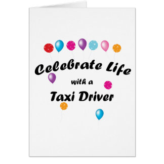 Celebrate Taxi Driver Stationery Note Card