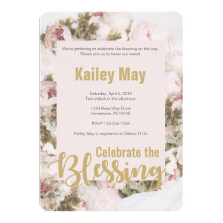 Celebrate the Blessings - Roses Babyshower card
