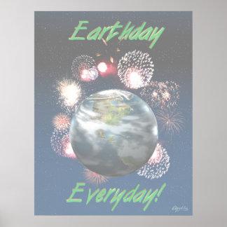 Celebrate the Earth lg-lay Print