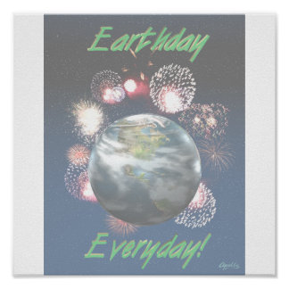 Celebrate the Earth lg-lay Poster