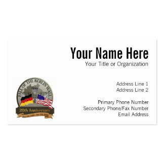 Celebrate the Fall of the Wall Double-Sided Standard Business Cards (Pack Of 100)