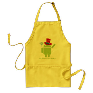 Celebrate The Fourth (Android Bug Droid) Adult Apron