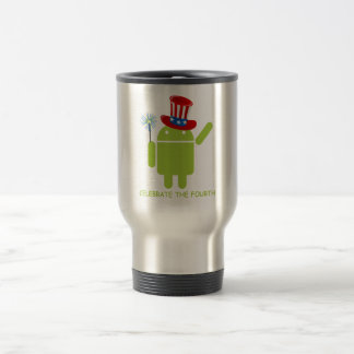 Celebrate The Fourth (Android Bug Droid) Travel Mug