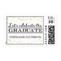Celebrate the Graduate Gold Dot Graduation Postage