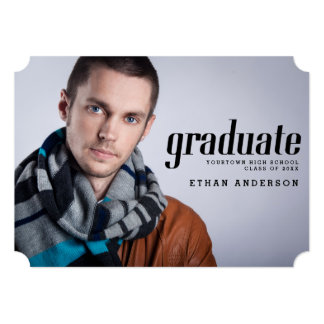 Celebrate the Graduate Photo Graduation Party 5x7 Paper Invitation Card