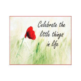 """""""Celebrate the Little Things"""" Canvas Wall Art"""