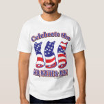 Celebrate the Red White and Mew T-Shirt