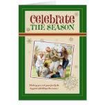 Celebrate the Season Family Holiday Card (green)