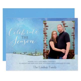 Celebrate The Season Holiday Photo Card