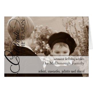 Celebrate the Season Photo Holiday Greeting Card