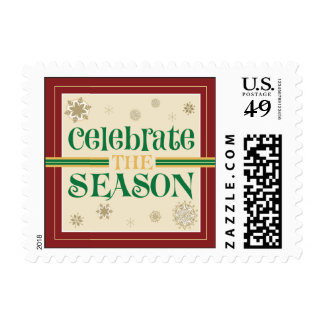 Celebrate the Season Postage Stamps (red)