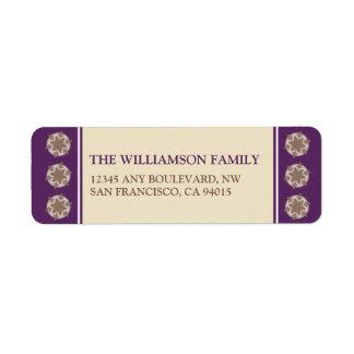 Celebrate the Season Return Address Labels (lilac)