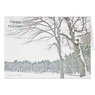 Celebrate the Spirit of the Season: Walden Pond Greeting Card