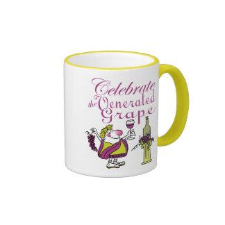 Celebrate the Venerated Grape Ringer Mug