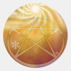 Celebrate the Warmth of the Yule Sun Classic Round Sticker