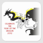 Celebrate The Year Of The Dragon 2012 Square Sticker