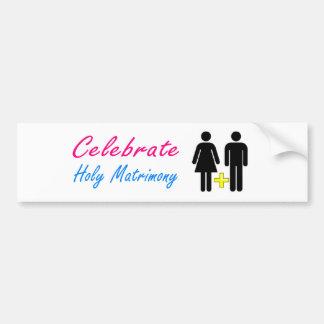Celebrate traditional marriage! bumper sticker