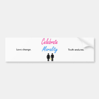 Celebrate traditional marriage. bumper sticker