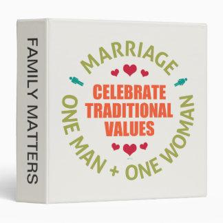 Celebrate Traditional Values Binder