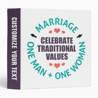 Celebrate Traditional Values Vinyl Binder