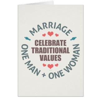 Celebrate Traditional Values Card