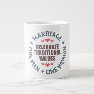 Celebrate Traditional Values Giant Coffee Mug