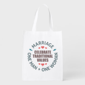 Celebrate Traditional Values Grocery Bag