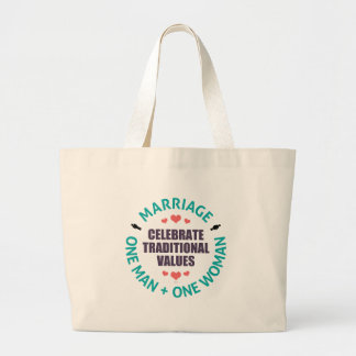 Celebrate Traditional Values Jumbo Tote Bag