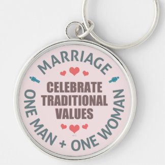Celebrate Traditional Values Keychain