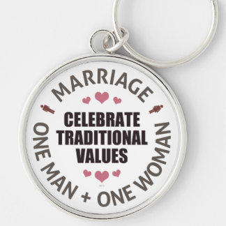 Celebrate Traditional Values Key Chain