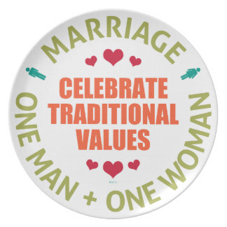Celebrate Traditional Values Melamine Plate