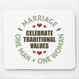 Celebrate Traditional Values Mouse Pad