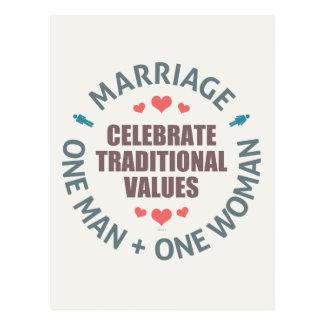 Celebrate Traditional Values Postcard