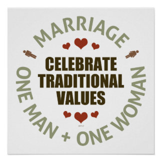 Celebrate Traditional Values Poster