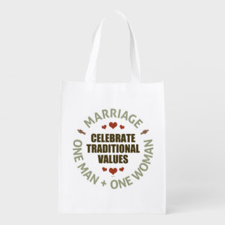 Celebrate Traditional Values Reusable Grocery Bag
