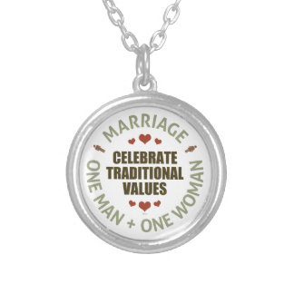 Celebrate Traditional Values Silver Plated Necklace