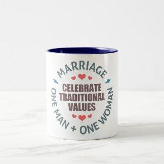 Celebrate Traditional Values Two-Tone Coffee Mug
