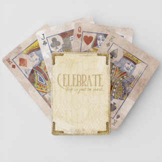 Celebrate: Vintage and Gold Playing Cards