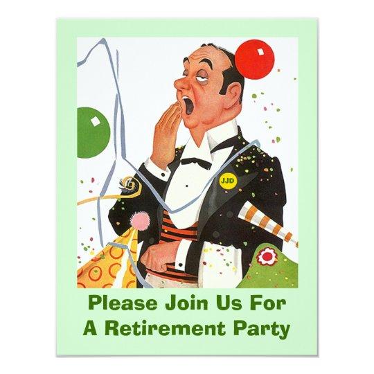 Celebrate w/ Fun Retro Retirement Party Invitation