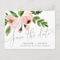 CELEBRATE WATERCOLOR SAVE THE DATE POSTCARD