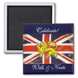 Celebrate Wills and Kate Heraldry Keepsake Magnet