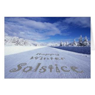 Celebrate winter solstice greeting card