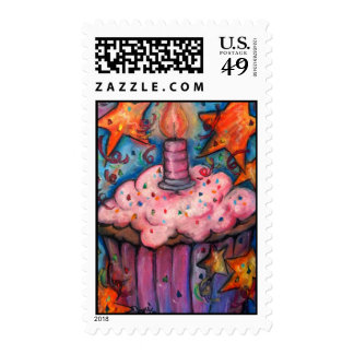 Celebrate With A Cupcake Postage Stamps